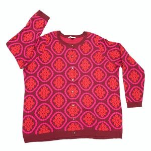 Isaac Mizrahi Live | Medallion Print Sweater 3X